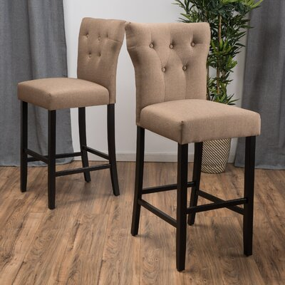 Gilland 30 inch Bar Stool Fabric: Linen Blend