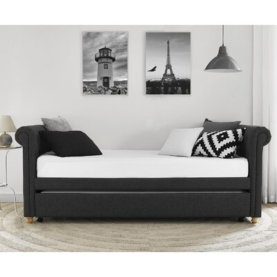 Sipple Daybed with Trundle Color: Grey