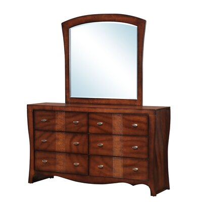Griswold 6 Drawer Dresser with Mirror