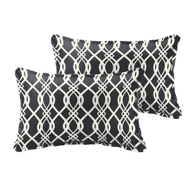 Valier Outdoor Lumbar Pillow Size: 12 x 24, Color: Black