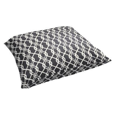 Byron Indoor/Outdoor Floor Pillow Color: Black