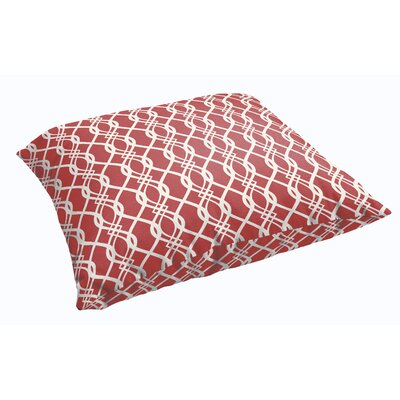 Byron Indoor/Outdoor Floor Pillow Color: Red