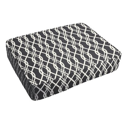 Byron Corded Indoor/Outdoor Floor Pillow Color: Black