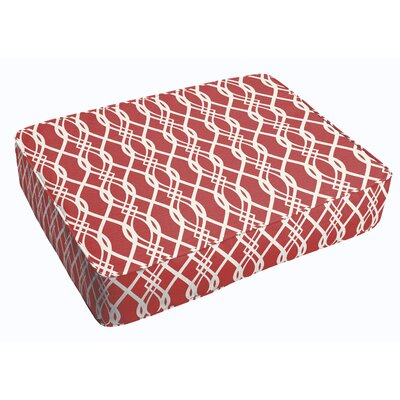Byron Corded Indoor/Outdoor Floor Pillow Color: Red