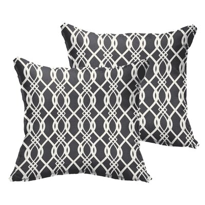 Byron Indoor/Outdoor Throw Pillow Size: 22 x 22, Color: Black