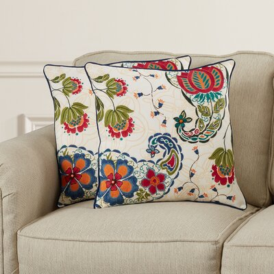 Louisville Cotton Throw Pillow Size: 18
