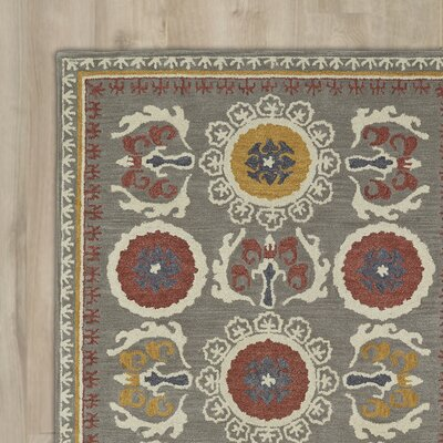 Tunstall Hand-Tufted Gray Area Rug