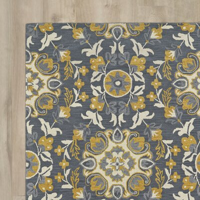 Tunstall Hand-Tufted Wool Gray Area Rug Rug Size: Rectangle 5' x 7'9