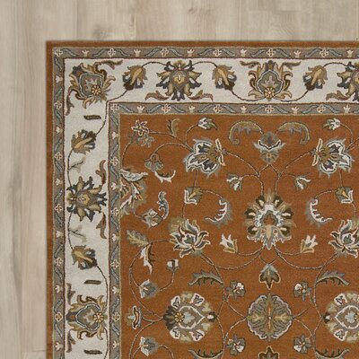 Carthage Hand-Tufted Brick Area Rug