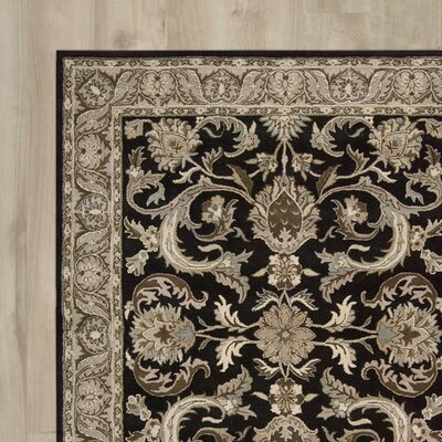 Carthage Hand-Tufted Black Area Rug