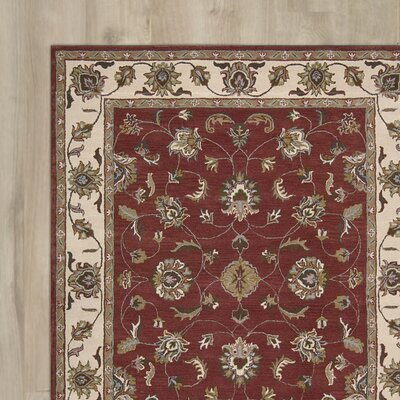 Carthage Hand-Tufted Red Area Rug