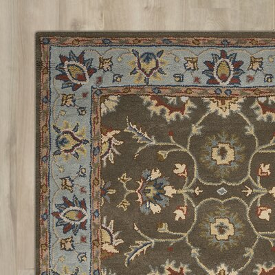 Jerome Hand-Tufted Gray Area Rug Rug Size: 5 x 7