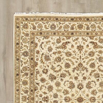 Bilbrey Handmade Ivory Area Rug Rug Size: Rectangle 116 x 86