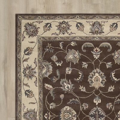 Carthage Hand-Tufted Chocolate Area Rug