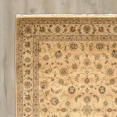 Bilbrey Handmade Beige Area Rug Rug Size: Rectangle 116 x 86