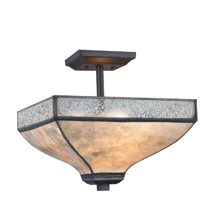 3-Light Semi Flush Mount Bulb Type: 9.5W LED
