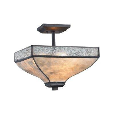 3-Light Semi Flush Mount Bulb Type: 60W Incandescent