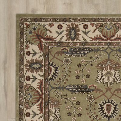 Carthage Hand-Tufted Green Area Rug