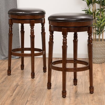Laver 30.9 Swivel Bar Stool Finish: Chocolate Brown
