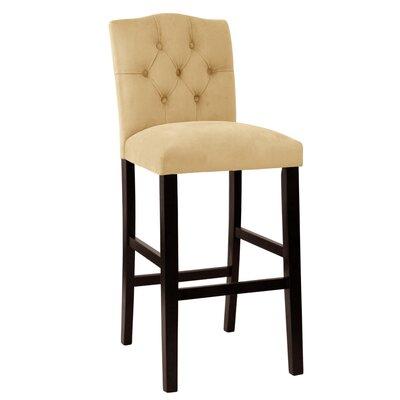Bennett 30 Bar Stool Upholstery: Classic Velvet Pewter