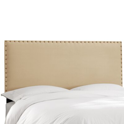 Aldan Upholstered Panel Headboard Size: Full, Upholstery: Velvet Buckwheat