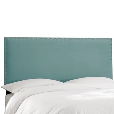 Aldan Upholstered Panel Headboard Size: California King, Upholstery: Velvet Caribbean