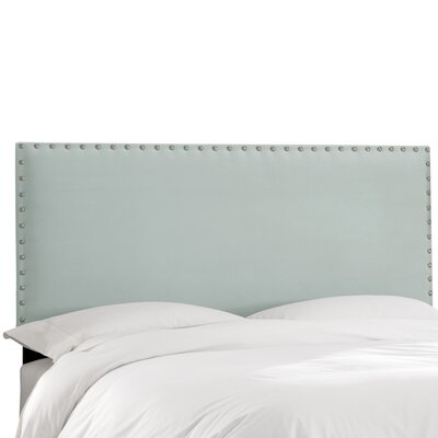 Aldan Upholstered Panel Headboard Size: King, Upholstery: Velvet Pool