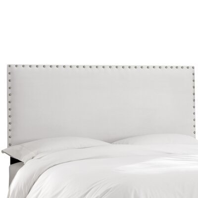 Aldan Upholstered Panel Headboard Size: Twin, Upholstery: Velvet White