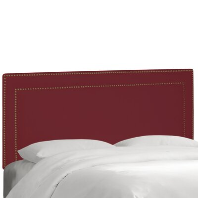 Albertina Upholstered Panel Headboard Size: King, Upholstery: Velvet Berry