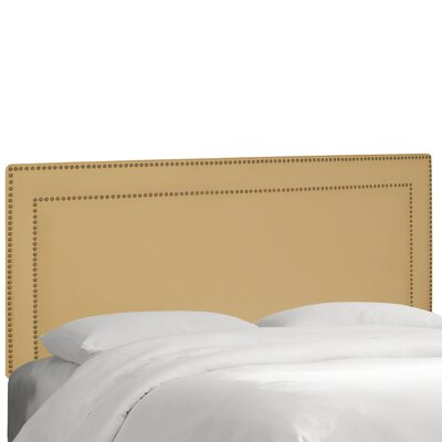 Albertina Upholstered Panel Headboard Size: Twin, Upholstery: Velvet Buckwheat