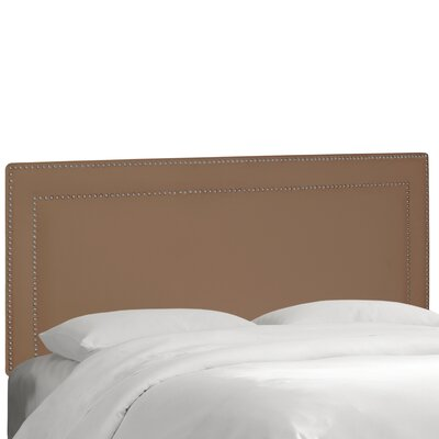 Albertina Upholstered Panel Headboard Size: Twin, Upholstery: Velvet Cocoa