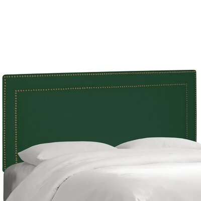 Albertina Upholstered Panel Headboard Size: King, Upholstery: Velvet Emerald