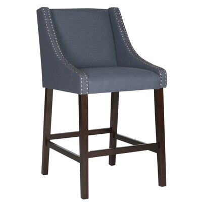 29.5 inch Bar Stool Upholstery: Navy