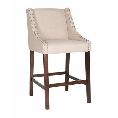 Dunigan 39.5 Bar Stool Upholstery: Tan