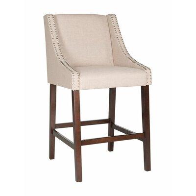 Dunigan 39.5 inch Bar Stool Upholstery: Tan