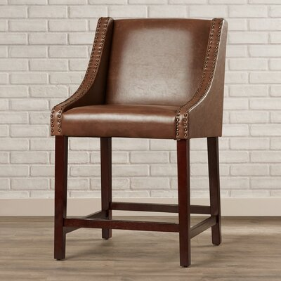 Dunigan 39.5 Bar Stool Upholstery: Brown
