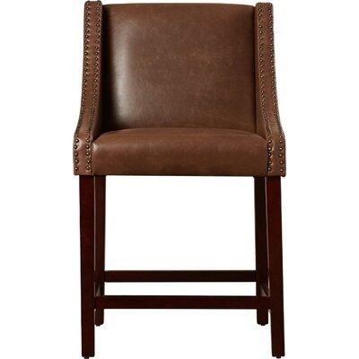 Dunigan 39.5 Bar Stool Upholstery: Brown