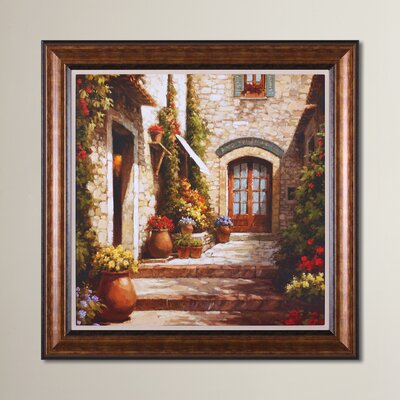 Sunlit Courtyard Framed Painting Print