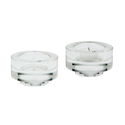Crystal Votive Size: 2 H x 3.5 W x 3.5 D
