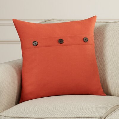Goodwin Throw Pillow Color: Pumpkin