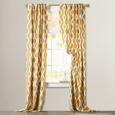 Ellerbee Printed Single Curtain Panel