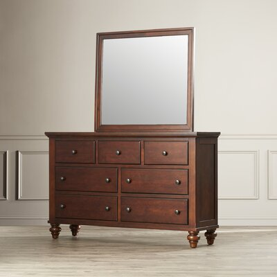 Verrett 7 Drawer Dresser with Mirror