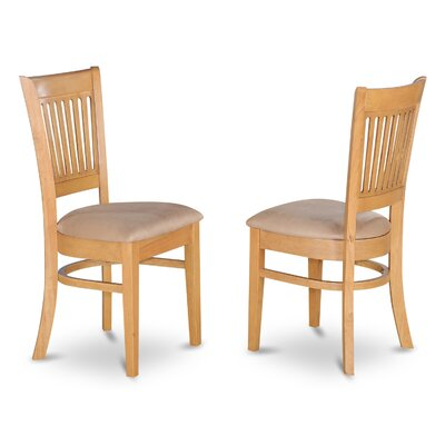 Dixie Wood Side Chair (Set of 2) Finish: Oak, Upholstery: Microfiber
