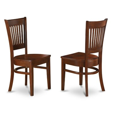 Dixie Wood Side Chair (Set of 2) Finish: Espresso, Upholstery: Wood