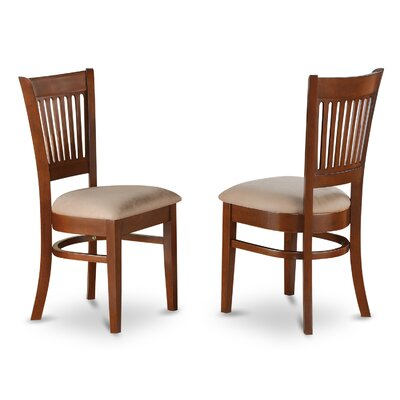 Dixie Wood Side Chair (Set of 2) Finish: Espresso, Upholstery: Microfiber