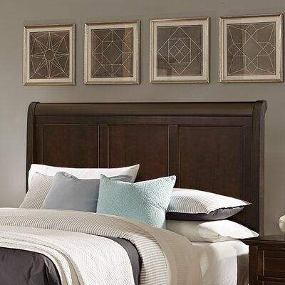 Gastelum Wood Sleigh Headboard Size: King, Color: Soft White