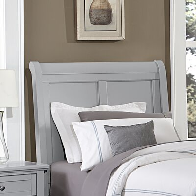 Gastelum Wood Sleigh Headboard Size: Twin, Color: Urban Gray