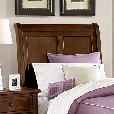 Gastelum Wood Sleigh Headboard Size: Twin, Color: Warm Cherry