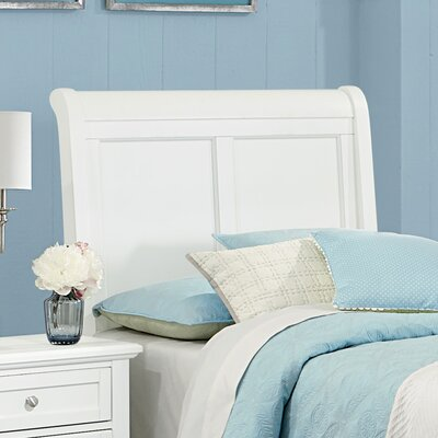 Gastelum Wood Sleigh Headboard Size: Twin, Color: Soft White