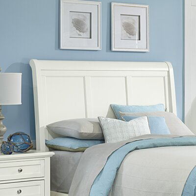 Gastelum Wood Sleigh Headboard Size: Queen, Color: Soft White